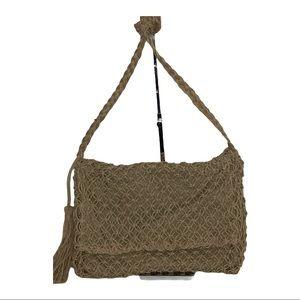 World Market Crocheted Jute Crossbody Bag NWOT